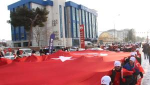 Edirne'de Eksi 10 Derecede Sarıkamış Şehitleri Yürüyüşü
