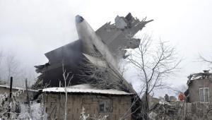 Kırgızistan'da Düşen Kargo Uçağından Kareler