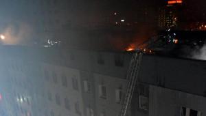 Kocasinan Belediyesi'nin Çatısında Yangın