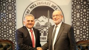 Saadet Partisi Genel Başkanı Temel Karamollaoğlu, Melikgazi'de