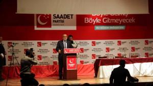 Saadet Partisi Ocak Ayı Genişletilmiş İl Divan Toplantısı Yapıldı