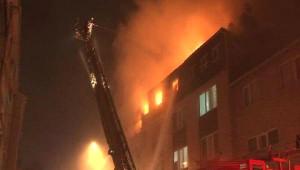 Üsküdar'da 4 Katlı Binada Yangın(Ek Fotoğraf)