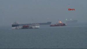 Zeytinburnu'nda Kuru Yük Gemisi Su Aldı, Geminin Büyük Bir Bölümü Battı
