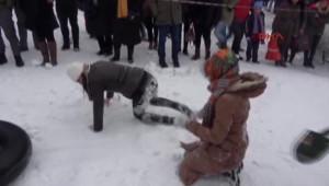 Rize Ayder Kardan Adam Şenliği'nde Renkli Görüntüler Yaşandı 2