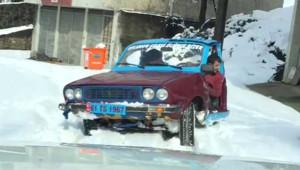 Trabzonlu Genç Yaptığı Yarım Otomobille Fenomen Oldu