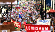 Fotoğraflarla: Londra'da Binlerce Kişi Donald Trump'a Karşı Yürüdü