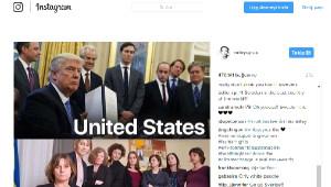 Miley Cyrus, Trump'ı Dalgaya Alan Bakanın Fotoğrafıyla Ülkesine Seslendi