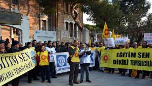 Bergama'da Kesk'ten Üyelerinin İhracına Protesto
