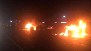 Çorlu'da Çarpışan Araçlar Alev Topuna Döndü; 1 Ölü, 1 Yaralı