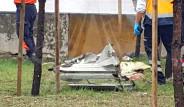 Televizyon Kulesine Çarpan Helikopterin Enkazından Korkunç Kareler
