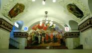 Moskova'nın Saraya Benzeyen Metro İstasyonlarından 25 Kare
