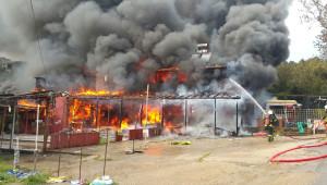 Kandıra'da İş Yeri Yangını