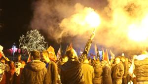 Sivas'ta Halaylı 'Evet' Kutlaması