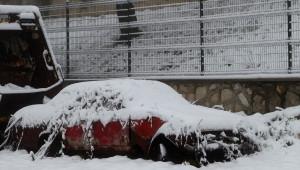 Kırklareli'nin Yüksek Kesimlerinde Kar Yağışı