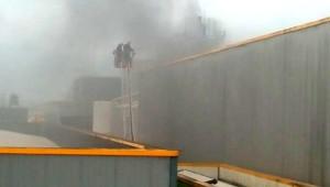 Atık Fabrikasında Yangın Büyümeden Söndürüldü