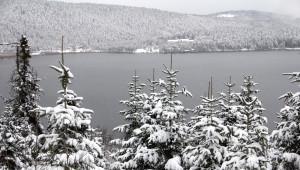 Abant'ta Kar Manzarası Büyülüyor