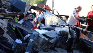 Bolu Dağı Tüneli Çıkışında Kaza 1 Yaralı