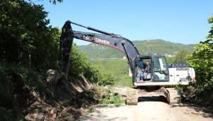 Fatsa'da Kırsalda Yol Çalışmaları