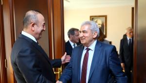 Dışişleri Bakanı Çavuşoğlu, Smdk Başkanı Seyf'i Kabul Etti