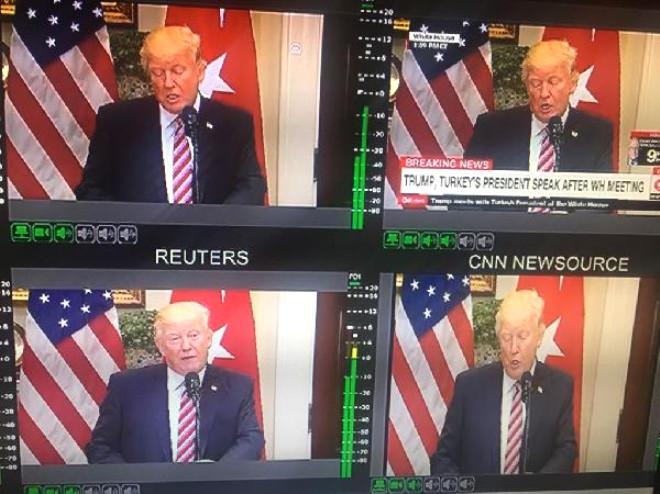 Erdoğan ve Trump Ortak Basın Açıklamasını Birçok Haber Kanalı Canlı Yaınladı
