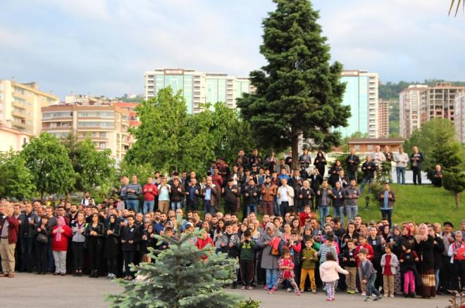 Trabzon Şehidine Tören