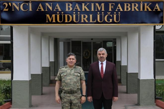 Başkan Çelik, 2. Ana Bakım Merkezi Komutanlığı'nı Ziyaret Etti