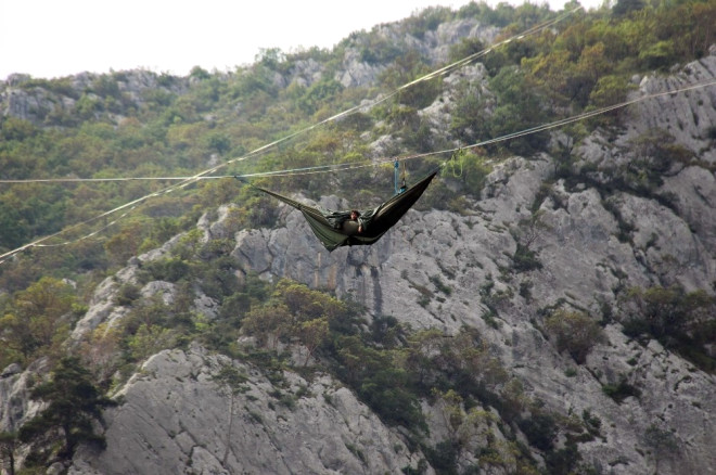 Kanyonda 200 Metre Yüksekte İp Üstünde Dünya Rekoru Denemesi