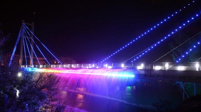 Manavgat'ta Işık ve Su Danslı Yaya Köprüsü