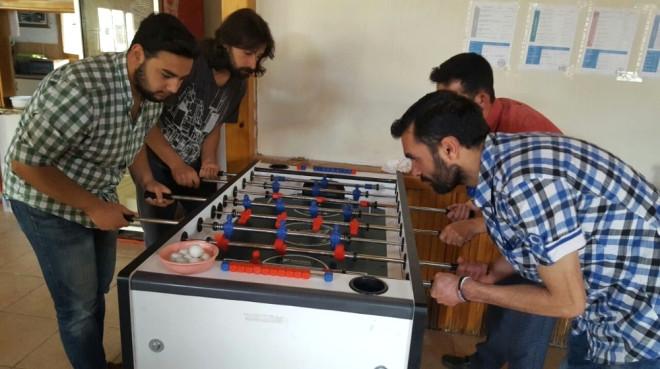 Pazarlar'da Masa Futbolu Turnuvası