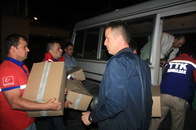 Zonguldak Ttk Kurtarma Ekibi Antalya'ya Hareket Etti