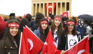 Gençler Anıtkabir'de, Ata'nın huzurunda!