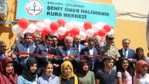Şehit Ömer Halisdemir Etüt Merkezi'nin Açılışı Yapıldı
