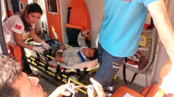 5 Kişinin Yaralandığı Kaza Güvenlik Kameralarına Yansıdı