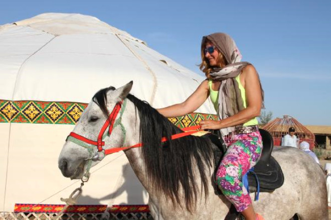 Kazakistan'da Türk Konseyi Kültür Köyü Açtı