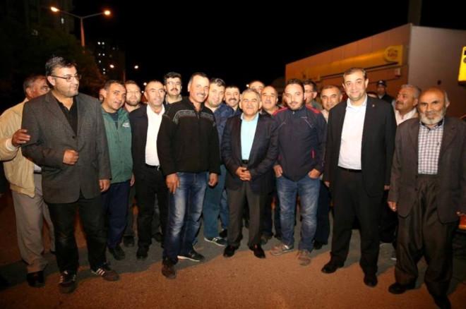 Başkan Büyükkılıç Hürriyet Mahallesi Halkı ile Bir Araya Geldi