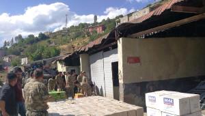 Hakkari Şemdinli'de 36 Bin Paket Kaçak Sigara Ele Geçirildi