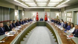 AK Parti Myk, Cumhurbaşkanı Erdoğan Başkanlığında Toplandı