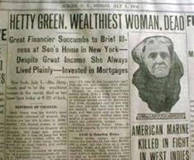 Dünyanın En Zengin Kadınlarından Biriydi, Cimriliğinden Öldü!