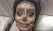 Angelina Jolie'ye Benzemek İçin Makyajla mı Böyle Görünüyor?