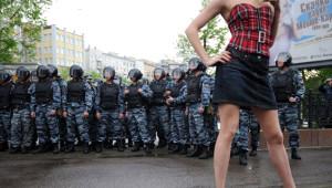 Rus Polisinden İlginç Kareler
