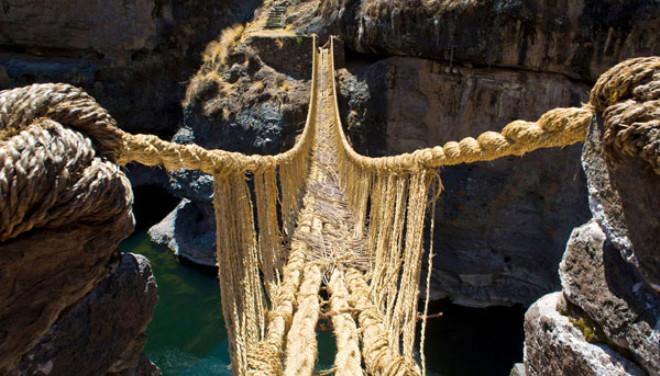 Q'eswachaka Rope Bridge - Peru