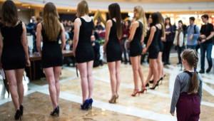 Moskova'da Güzellik Yarışması Seçmelerinden İlginç Kareler