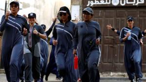 Suudi Arabistan'da Kadınlar Günü'nde tarihi koşu
