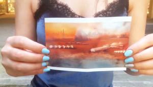 Genç Kadın, 3812 Yılından Mars'ın Fotoğrafını Getirdi