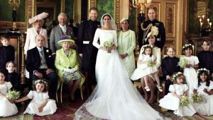Kraliyet ailesi, Meghan Markle ve Prens Harry'nin Düğününden Çok Özel Fotoğraflar Paylaştı