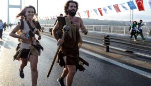 İstanbul Maratonu'nda Objektiflere Yansıyan Birbirinden Güzel Anlar