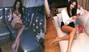 Güzel Model Büyük Ayaklarıyla Dalga Geçilince Yapacağını Yaptı