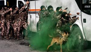 Özel Harekat Polislerinin Gerçek Mermi Kullandığı Olay Tatbikattan Kareler!