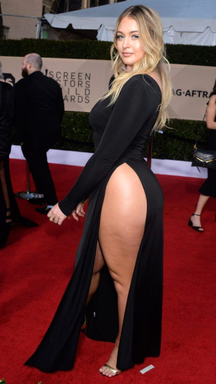 Büyük Beden Model, Derin Yırtmaç Elbisesiyle Yaptığı Instagram Paylaşımıyla Yürek Hoplattı