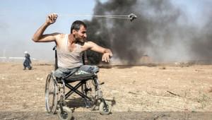 Tekerlekli Sandalyesiyle Gittiği Gazze Sınırında Öldürüldü! İşte Anadolu Ajansından 2018'e Damga Vuran Fotoğraflar